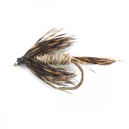 March Brown Spider wet fly per dozen